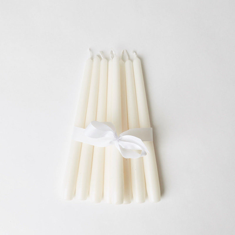 Snow White Candles (Set of 8)