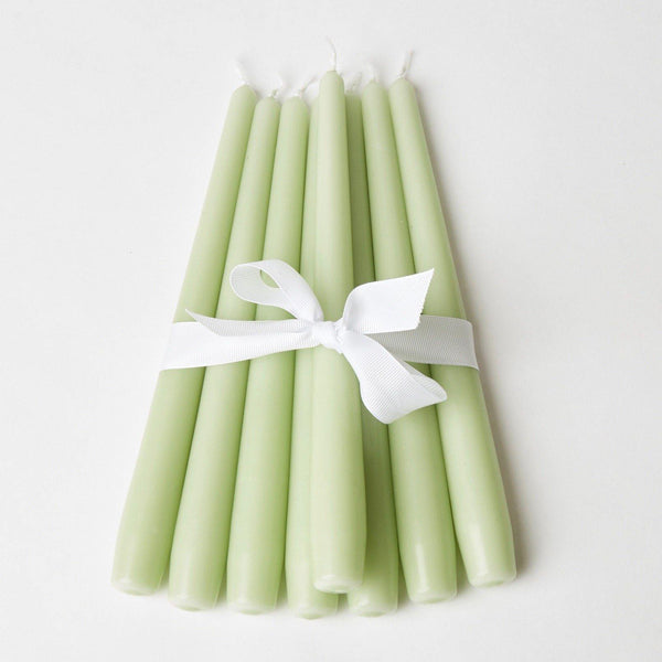 Spring Green Candles (Set of 8)