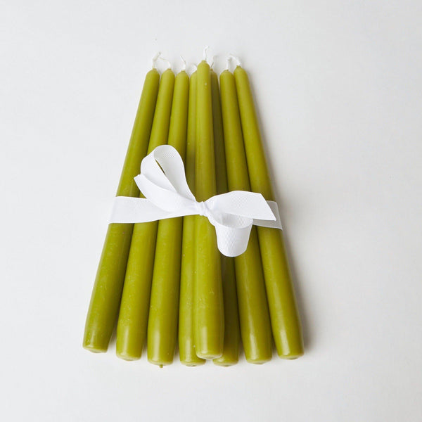 Apple Green Candles (Set of 8)