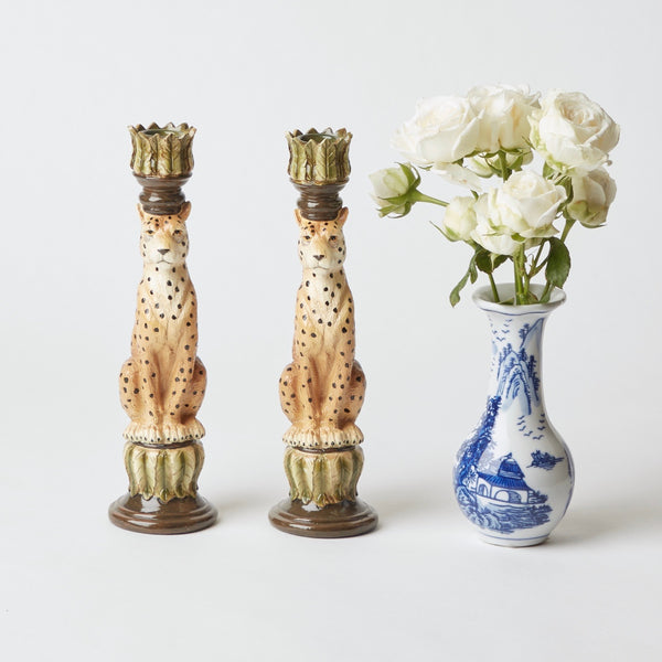 Leopard Candlesticks (Pair)