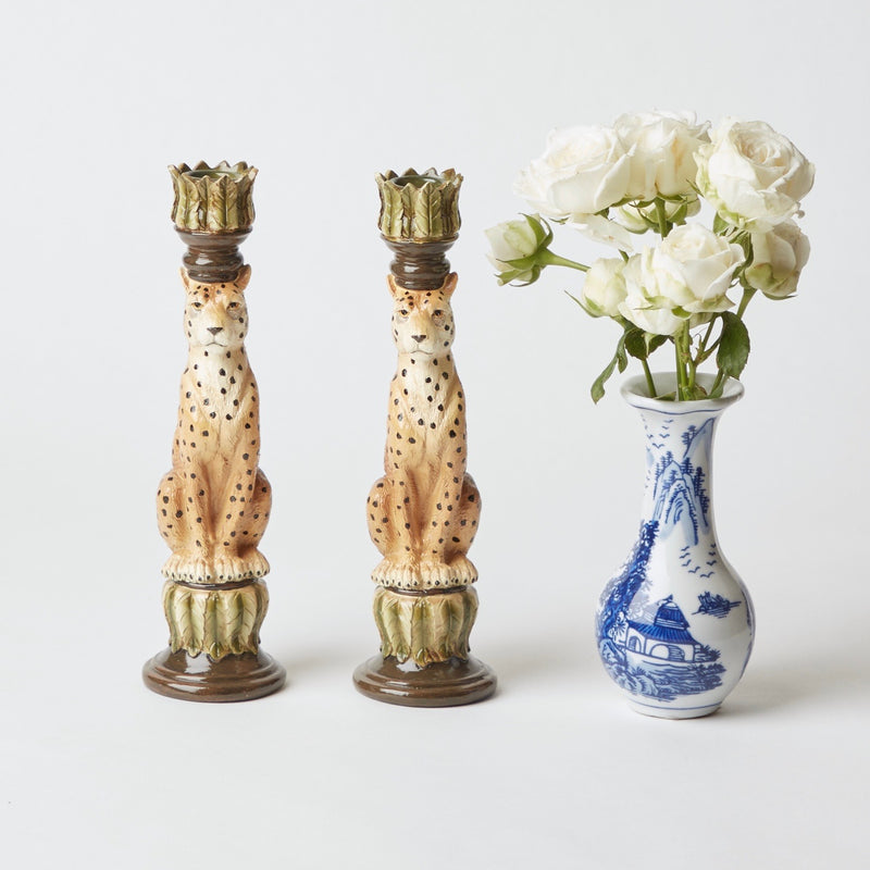 Leopard Candle Holders (Pair)