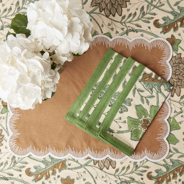 Clematis Moss Napkin (Set of 4)
