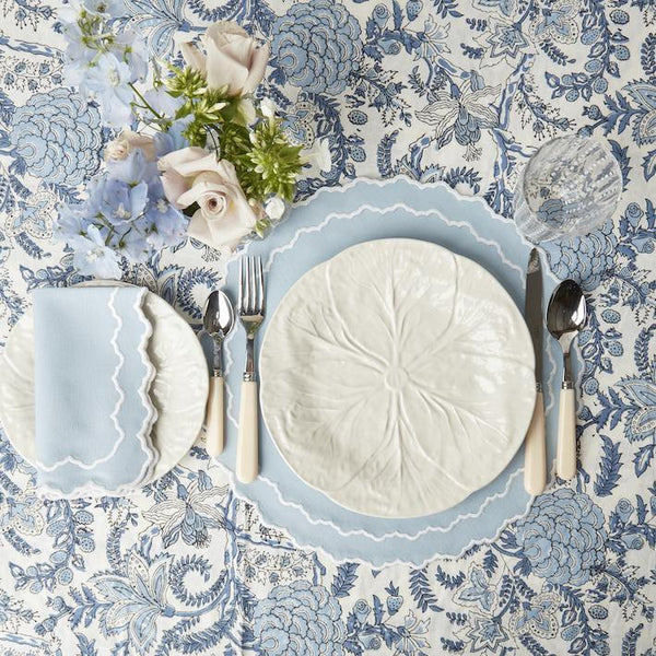 Beatrice Blue Placemats & Napkins (Set of 4)