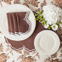Small White Woven Plate