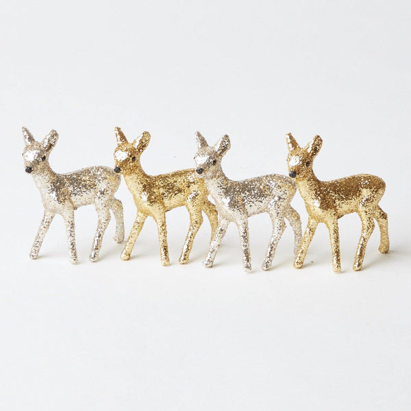 Herd of Glitter Reindeer (Set of 4)