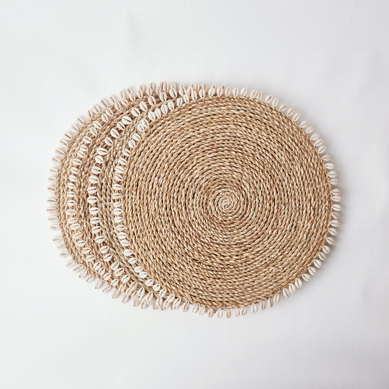 Seagrass Shell Placemats (Set of 4)
