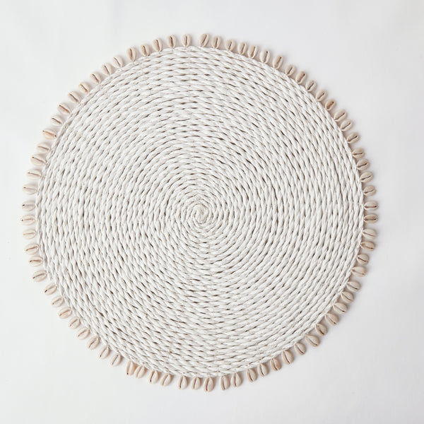 White Seagrass Shell Placemats (Set of 4)