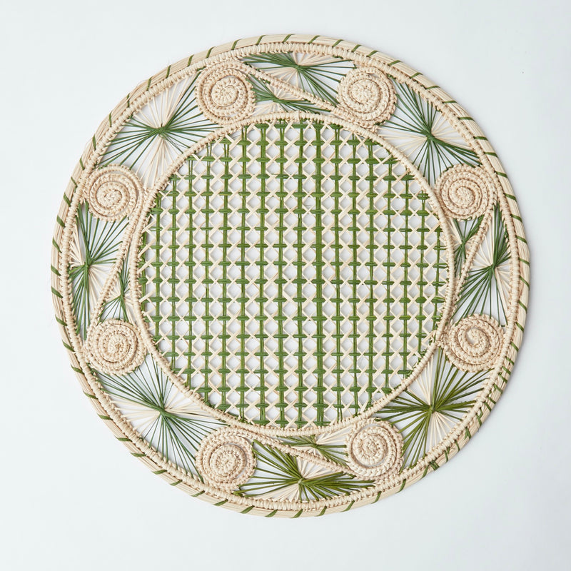 Coco Green Woven Placemats (Set of 4)