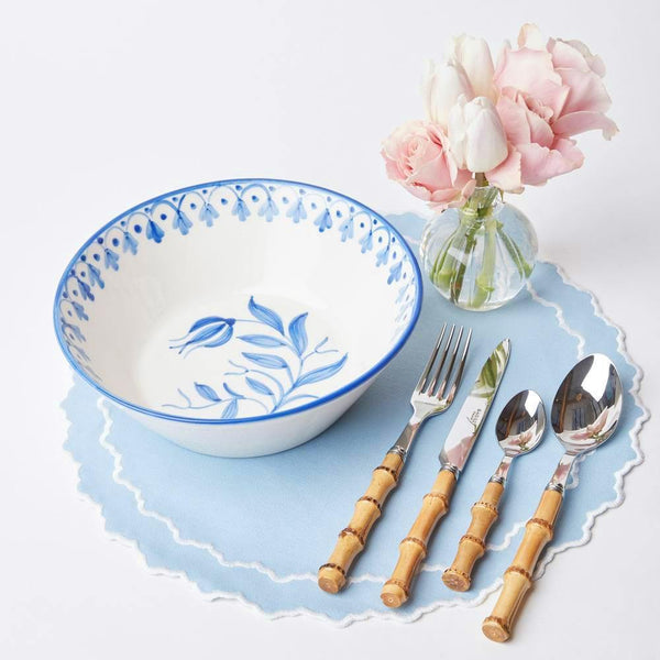 Seville Blue Tulip Serving Bowl