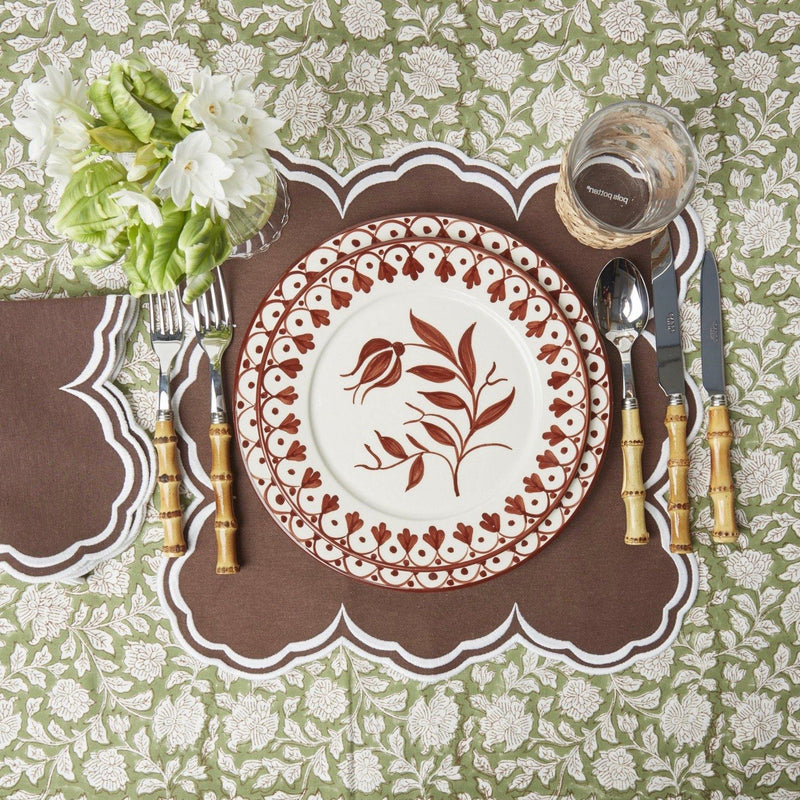 Serena Square Chocolate Placemats (Set of 4)