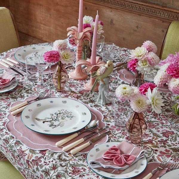 Poppy Dusty Pink Placemats & Napkins (Set of 4)