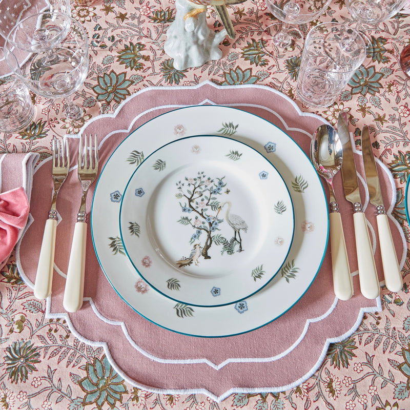 Pink Poppy Vine Tablecloth