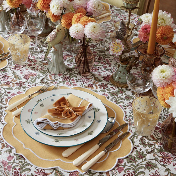 Poppy Mustard Napkins & Placemats (Set of 4)