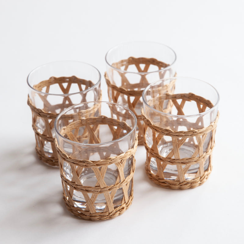 Raffia Water Glass (Set of 4)