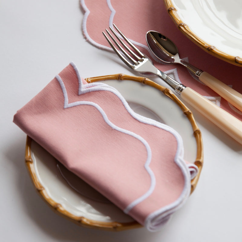 Nancy Blush Pink Napkins (Set of 4)