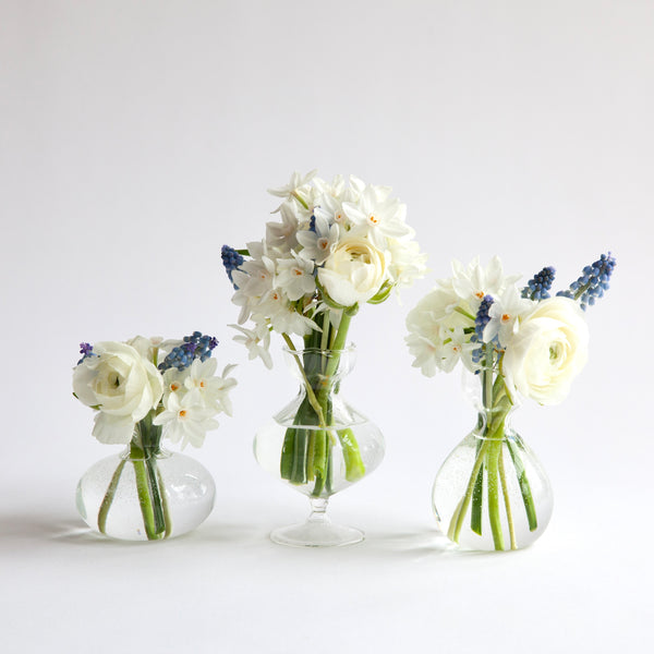 Winter Rose Bud Vase Set