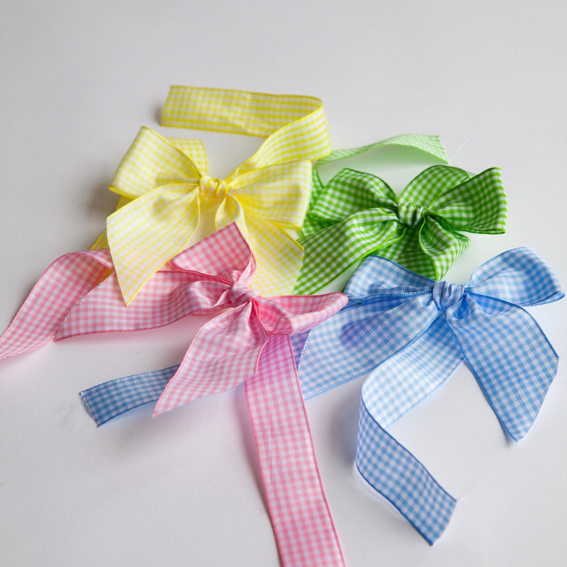 Gingham Napkin Ring Bows (Set of 4)