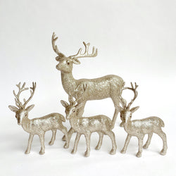 Gold Reindeer Family