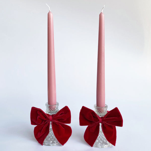 Ribboned Candlestick Set (pair)