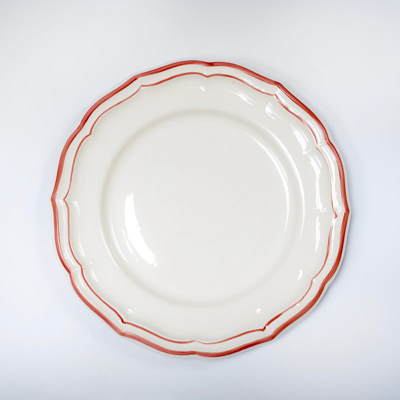 Scallop Edge Coral Side Plate