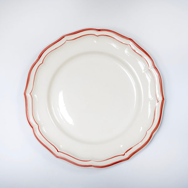 Scallop Edge Coral Dinner Plate