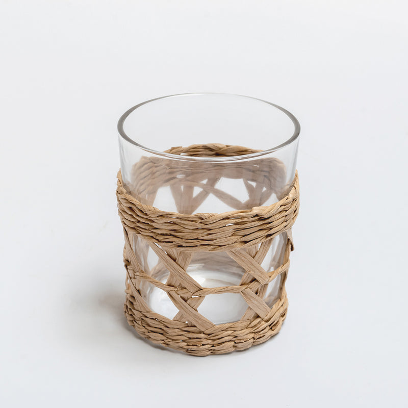 Raffia Water Glasses (set of 4)