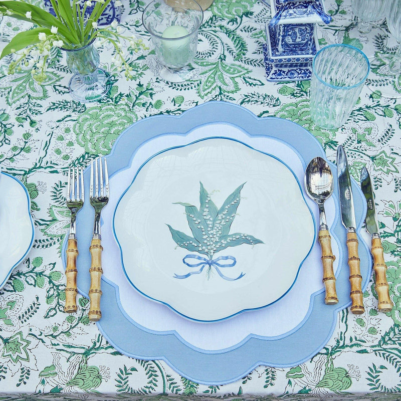 Serena Appliqué Blue Placemats (Set of 4)