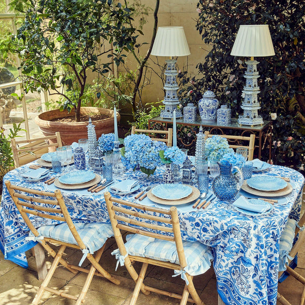 Serena Blue Tablecloth