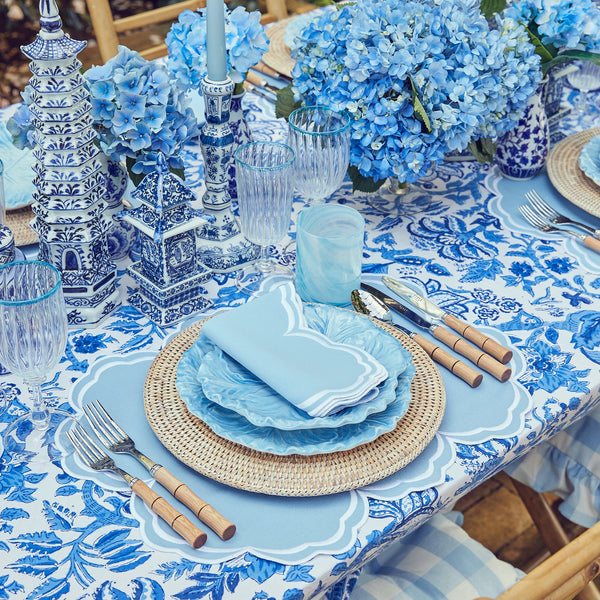 Serena Cornflower Blue Placemats & Napkins (Set of 4)