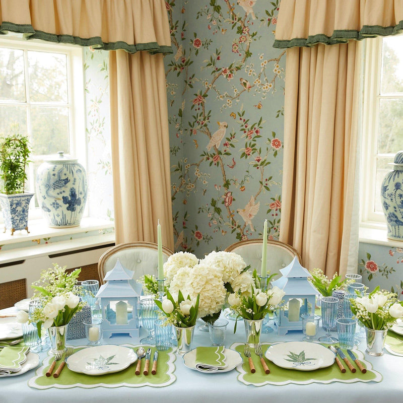Serena Appliqué Green Placemats (Set of 4)