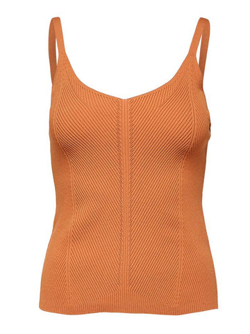 Selected Femme Knit Top - Caramel