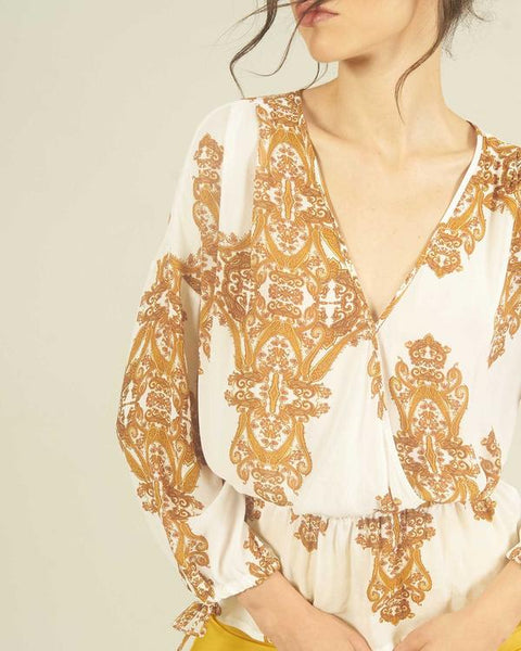 Silvian Heach Paisley Print Long Sleeve Top