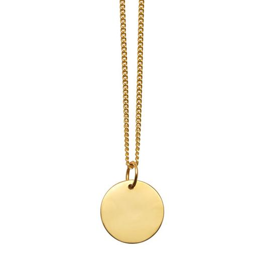 Gold Plated Disc Pendant