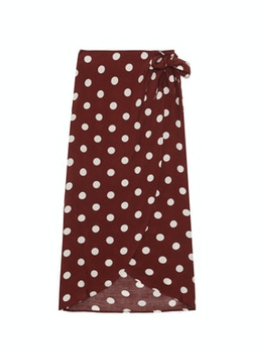Grace & Mila Polka Dot Wrap Skirt