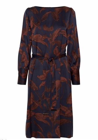 Dranella All Over Printed Dress - Navy