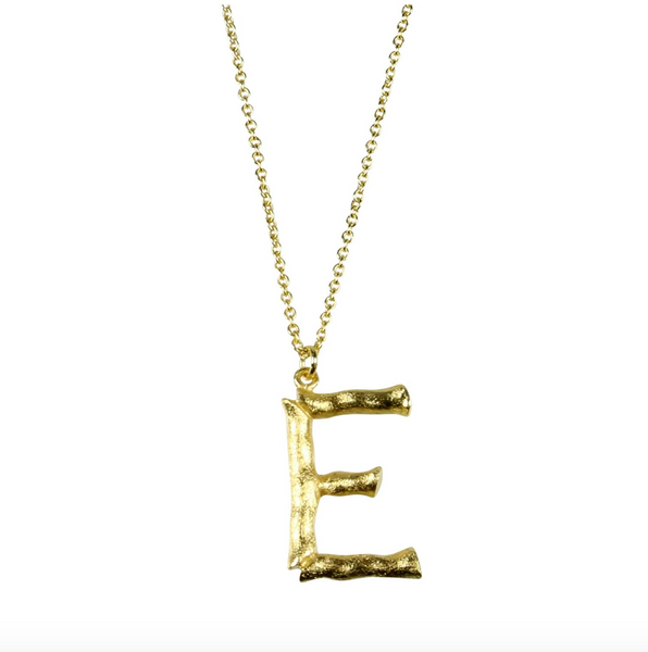 Pure By Nat Bamboo Letter 'E' in Gold