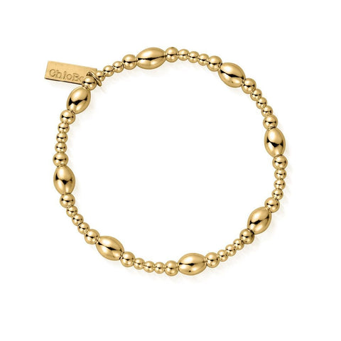 ChloBo Cute Oval Bracelet - Gold
