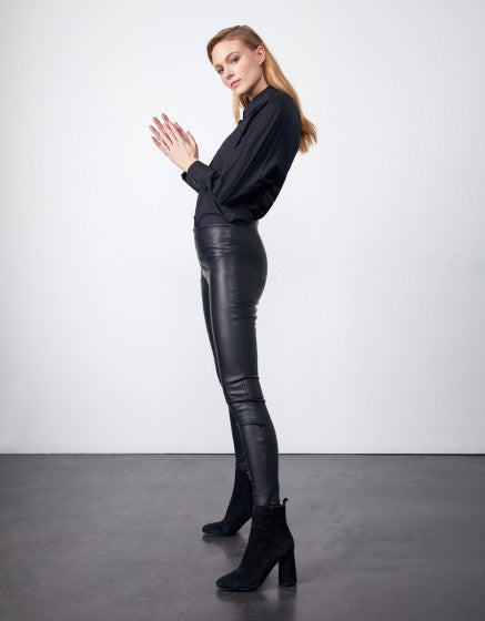 Reiko Olga Faux Leather Legging - Black