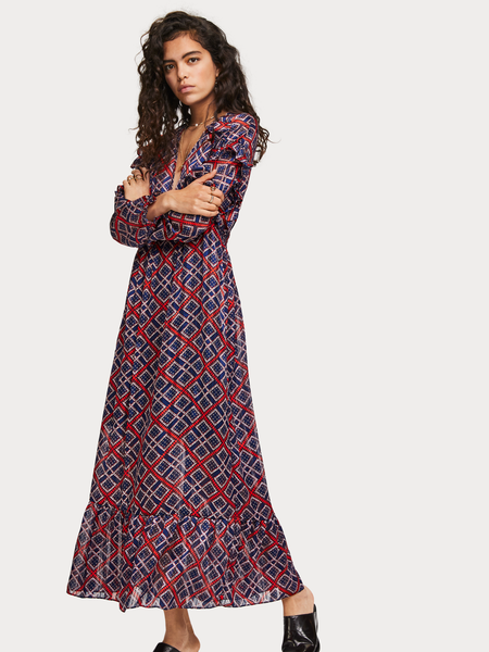 Printed Midi Length Dress