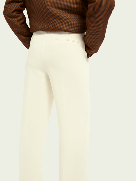Maison Scotch Tailored Mid-Rise Wide Leg Pant - Off White