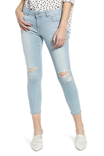 DL1961 Florence Cropped Mid-Rise Instasculp Skinny in Fairfax
