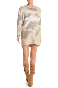 RD Style Camo Sweater Dress