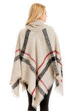 Load image into Gallery viewer, Blanket Turleneck Sweater Poncho