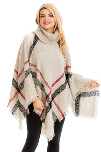 Blanket Turleneck Sweater Poncho