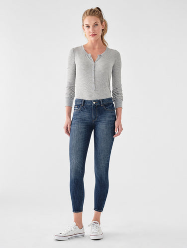 DL1961 Florence Cropped Mid Rise Skinny Jean in Trenton