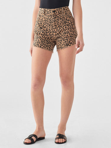 DL1961 Hepburn High Rise Wide Leg Short in Catwalk