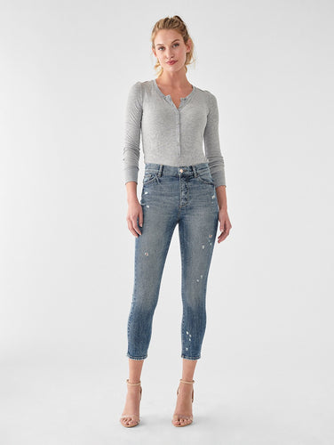DL1961 Farrow Cropped Vintage High Rise Skinny Jean in Tacoma