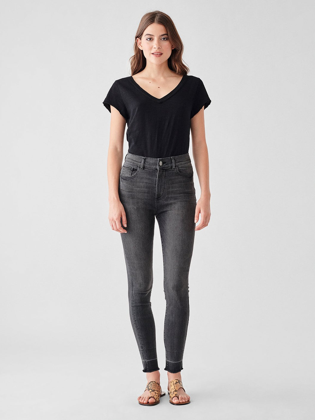 DL1961 Farrow Ankle High Rise Skinny in Carlisle