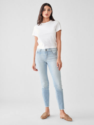 DL1961 Florence Ankle Vintage Mid Rise Skinny in Convent