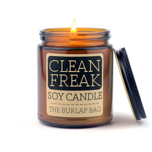 Load image into Gallery viewer, The Burlap Bag Clean Freak Soy Candle